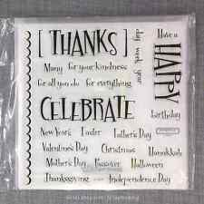 Close to my Heart D1408 A Little Everything CTMH Acrylic Stamps Set NEW Party