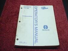New Holland TR98 Combine Operator's Manual
