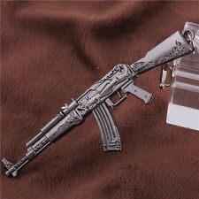 AK47 Antique Gold CSGO Mini GUN Metal Keychain Keyring Car Accessory Men Gift