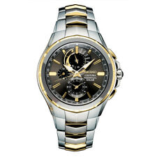 Seiko SSC376 Coutura Perpetual Solar Analog Mens Watch Two-Tone Stainless Steel