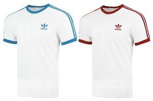Adidas T-Shirt Originals California Linear 3 Streifen Baumwolle Herren Größe S-X