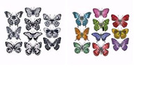 Bundle Lot Tim Holtz Flutter Butterflies Die & Stamps 662269 CMS294 Sizzix & SA