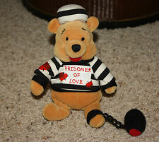 "PRISONER OF LOVE POOH Ball & Chain Disney 8"" Winnie MINI Beanbag Plush  G8"