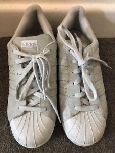 Adidas Super Star Grey Suede Trainers UK 6 / FR 39.1/3