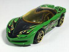 Hot Wheels 2009 Pontiac Banshee Green Eyes w/ Flames HW Scary Cars 5-Pack Loose