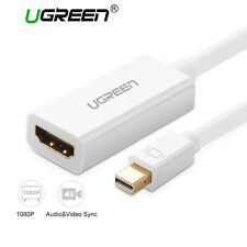 Ugreen Mini DP to HDMI Cable Converter Adapter Male to Female Thunderbolt 1080P