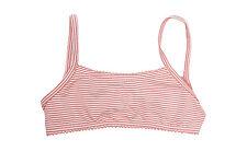 PETIT BATEAU Girl's Pink Striped Swimwear Top Sz 8 Years NEW $25