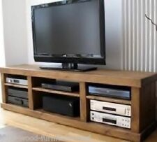 REAL SOLID WOODEN RUSTIC PLANK PINE TV STAND ENTERTAINMENT UNIT INDIGO FURNITURE