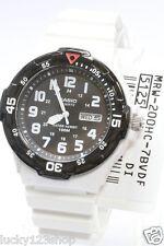 MRW-200HC-7B Black White Casio Men's Watch 100M Date Day Display Black Analog