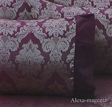 4 Pce ALEXA MAGENTA Jacquard Quilt Cover + Fitted Sheets + Pillowcase - SINGLE