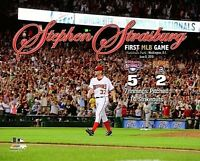STEPHEN STRASBURG Washington Nationals 2010 Rookie 1st MLB game 14K 8x10 photo