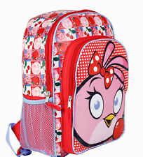 "16"" Backpack Super Angry Birds Girls Stella Cherry School Large Book Bag Kids"