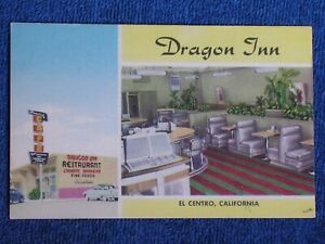 El Centro CA/Dragon Inn Chinese Restaurant/Interior-Exterior/Linen Advert PC
