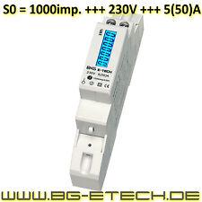 ***PORTOFREI*** digitaler 1Ph. Stromzähler 230V 5(50)A LCD, S0 für Hutschiene