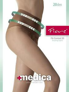 Fiore Slimming Fit-Control Top Tights 20 Denier-Slimming Effect