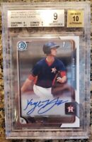 2015 Bowman Chrome Draft Kyle Tucker BGS 9 Auto 10 Rising Value Rising Star
