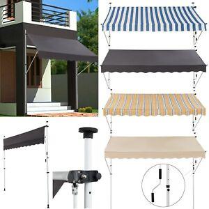 Klemmmarkise Balkon Markise Garten Sonnenschutz einziehbar ohne Bohren Klemmbar