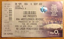 WWE RAW Wrestlemania Revenge 2010 TICKET London; The O2 Monday 12th April 3A Ent