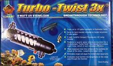Coralife Turbo-Twist 3X - 9w aquarium UV Sterilizer light Ultra violet