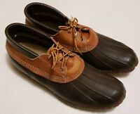 LL Bean Maine Hunting Shoe Men's Gumshoe Duck Low Boots Size 14M Brown (7)