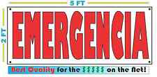 Full Color EMERGENCIA Banner Sign NEW Larger Size Best Price for The $$$$$