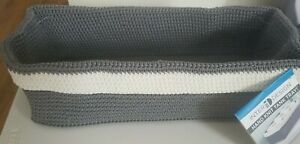 Inter Design Hand Knit Tank Tray For Toilet Paper Or Towels Machine Washable