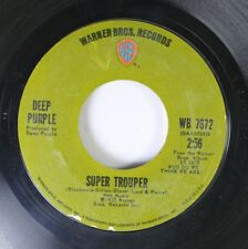 Rock 45 Deep Purple - Super Trouper / Woman From Tokyo On Warner Bros. Green