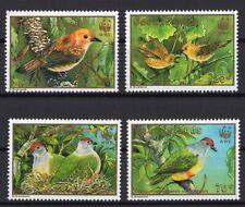 WWF Cook Islands Rarotonga monarch & Lilac-crowned fruit dove set clean MNH