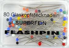 Glaskopf-Stecknadeln EXTRA FEIN - Flash-Pins 0,4 x 34 mm 80 St.