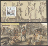 """FRANCE - CANADA 2008 JOINT ISSUE MNH S/S in folder """"La foire des fourrures""""(4/6)"""