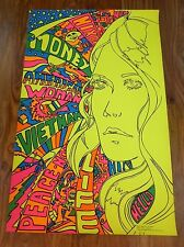 Blacklight Rick Ambrose American Woman The Third Eye Psychedelic Poster VTG