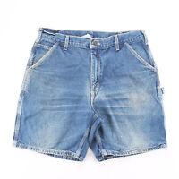 Vintage CARHARTT  Blue Regular Casual Denim Shorts Mens L W36