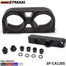 EPMAN 044 Twin Fuel Pump Bracket Billet Aluminium Assembly Outlet Manifold