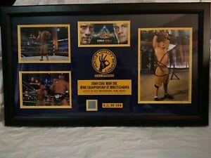 **WRESTLEMANIA 29 **John Cena Vs ROCK.  Autographed Plaque . #79 Of 500