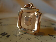 SUPERB LARGE FRENCH VICTORIAN 10CT ROSE GOLD/F POCKET WATCH CHAIN FOB. C~1890's.