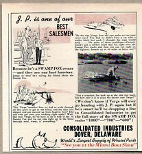 1959 Print Ad Swamp Fox Duck Boats Consolidated Industries Dover,Delaware