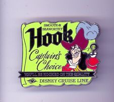 DCL Disney Cruise Line Captain's Choice Captain Hook Peter Pan Villain Pin