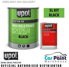 U-POL 5L 2k HS High Build Primer Filler Kit S2025 4L S2031 1L 2pack UPOL - BLACK