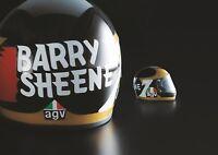 WORLD CHAMPION BARRY SHEENE 2018 AGV CRASH HELMET X3000 LIMITED EDITION HELMET
