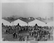 1934 Pro-German Tents in Saarbruecken Press Photo