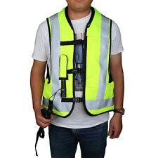 Motorcycle Airnest Airbag Vest Hi Viz Black + Fluorescent Yellow Size L XXL
