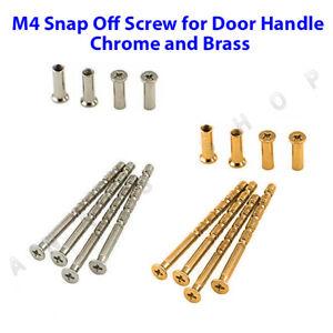 M4 Through Door Handle Screw,Bolt with Sleeve Suitable Fixings for Doors Snapoff