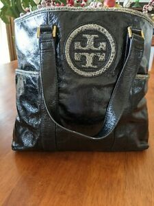Tory Burch Black Leather Tote  Ex. Condition RARE Limited Edition Price drop.
