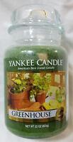 Yankee Candle GREENHOUSE Large Jar 22 Oz Green Housewarmer New Wax Fresh