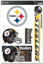 Pittsburgh Steelers 11x17 Ultra Decal Sheet - NFL Car Auto Sticker Emblem Cling