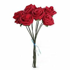 PE Artificial Foam Rose Bouquet Bridal Bouquets for Wedding Decor 10Pcs Rose Red