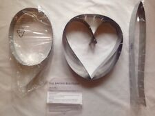 Set of 4 Heart & Round Shaped Stainless Steel Cake Moulds  Valentines 90cm QVC