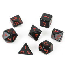 7pcs/ Set Acrylic Dice TRPG Game Dungeons&Dragons D4-D20 Multi Sides Dice Gift