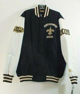 New Orleans Saints NFL Champions Letterman Jacket Varsity Jacket by NFL NWT