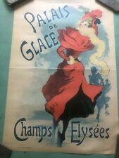 Vintage Original Cheret Palais De Glace  Poster 1900